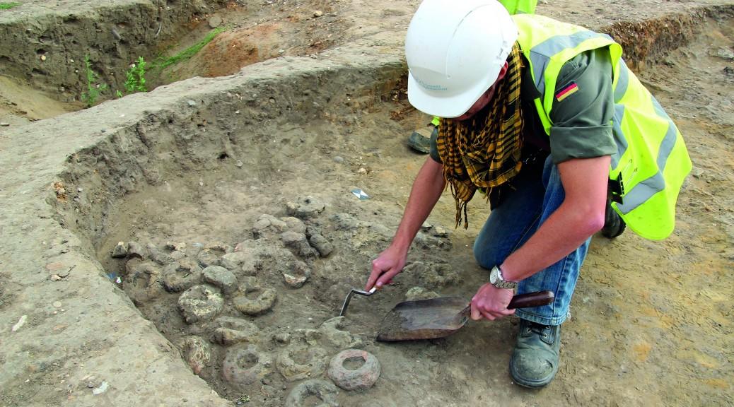 Saxon sunken freatured building under excavation